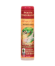BADGER POETIC POMEGRANATE COCOA BUTTER LIP BALM/ / NARLI VE KAKAOLU DUDAK BALMI 7gr