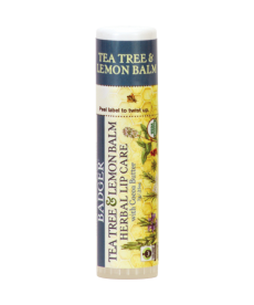 BADGER TEA TREE & LEMON BALM HERBAL LIP CARE / ÇAY AĞACI VE LIMONLU DUDAK BALMI 7gr