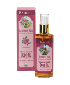 BADGER DAMASCUS ROSE BODY OIL / NEMLENDİRİCİ GÜL YAĞI 118ml