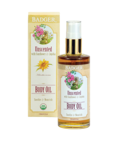 BADGER UNSCENTED BODY OIL / NEMLENDİRİCİ KOKUSUZ YAĞ 118ml